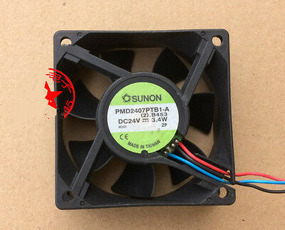 1pcs SUNON PMD2407PTB1-A 24V 4.3W 7CM 7025 3-wire inverter cooling fan