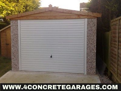 Apex Concrete Garage 8ft6in x 14ft3in installed *conditions apply £1,820