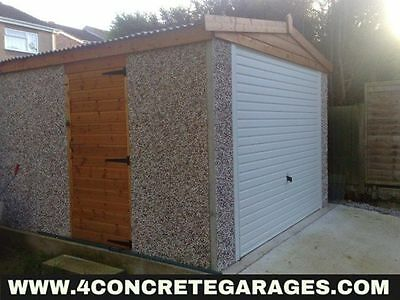 Apex Concrete Garage 8ft6in x 24ft3in installed *conditions apply £2,540