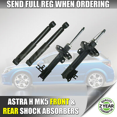 Vauxhall Astra H 04-11 Front & Rear Shock Absorbers x 4 Shockers Shocks Dampers