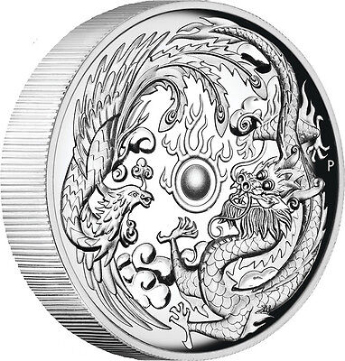 2017 Dragon & Phoenix 1oz Silver High Relief Proof Coin