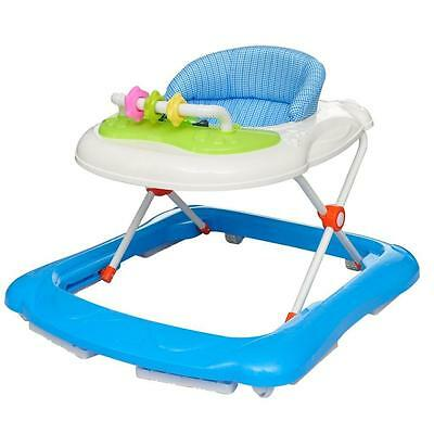 Baby Infant Toddler Walker Removable Play Tray Toy Activity Music Centre - Blue
