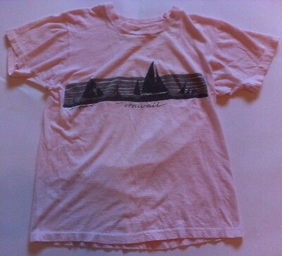 Vintage 80's Hawaii T Shirt By Design T's Women's Pink Thin Tee