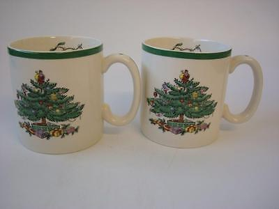Spode Christmas Tree 2 X Mugs