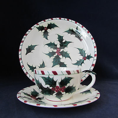 18pc SET - Lefton China HOLLY CANDY CANE Service for Six