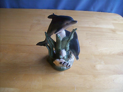 Vintage?  Dolphins And Marine Life Figurine Made In China