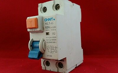 Chint 972180 Nl1-63 63A 63Amp 30Ma Double Pole Dp 2P Rcd Switch