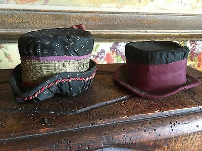 Antique French 17th Century Display Hats for French Hat Makers Textiles Samples