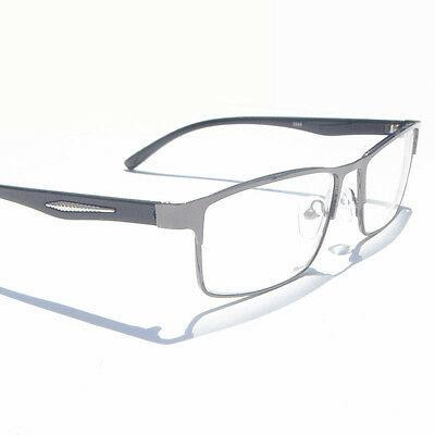 Gray Metal Square Frame Nearsighted Minus Distance Myopia Glasses -1.0~2.5~3~6.0