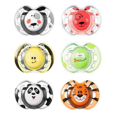 Tommee Tippee Fun Style soothers age 0-6m 2 in a pack various colours bpa free