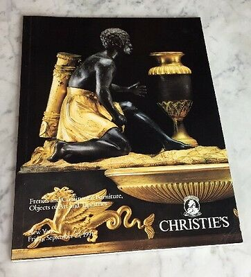 Christies NY French Continental Furniture Objects Tapestries Catalog Sept 27 91
