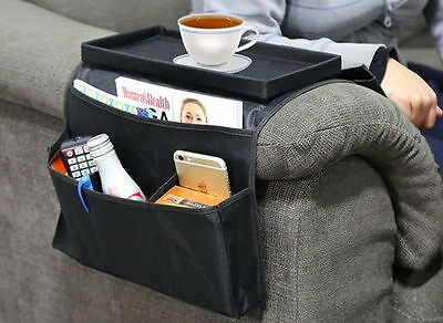 Superior Remote Control Caddy TV Sofa Couch Holder Arm Rest Organizer DVD 6 Pocket  Table