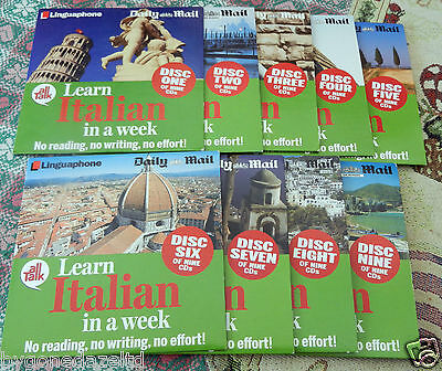 Daily Mail Learn Italian in a Week Complete Set of 9 CD(Free UK Post)