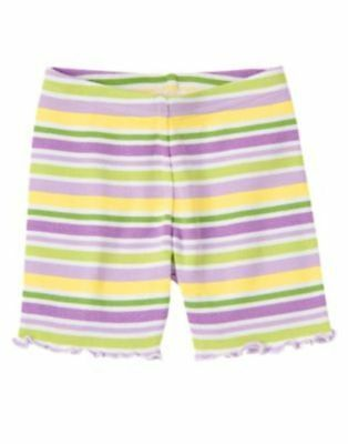 Gymboree DAFFODIL GARDEN striped bike shorts NWT 3 cotton knit