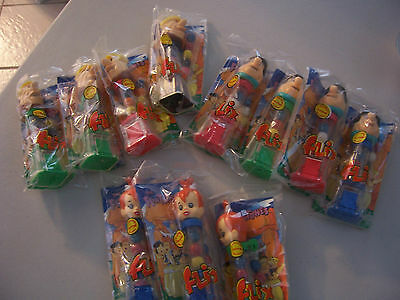 Lot of 11 Flintstones Flix Gumball Machines Fred Pebbles Barney Rubble 1994 NEW