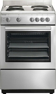 Euromaid - 60cm Double Electric Freestanding Oven with Grill, Stainless Steel ES