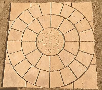 Paving 6Ft Compass Circle & Sq Off Kit Patio Slab Free Delivery Note Exceptions