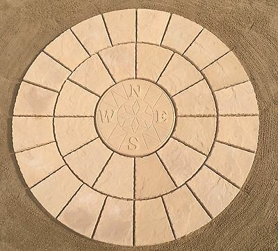 6ft COMPASS ROTUNDA CIRCLE PAVING PATIO SLABS FREE DELIVERY NOTE EXCEPTIONS)
