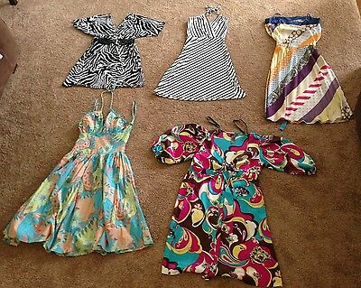 24pc. Lot Women's Mix Designer & Store Brand Spring/Summer/Fall Style Dresses
