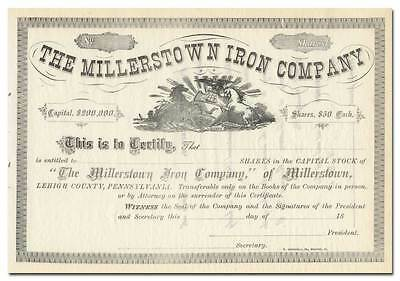 Millerstown Iron Company Stock Certificate