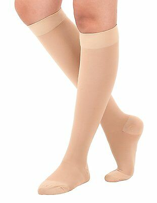 Made in USA - Surgical Opaque Knee-Hi Firm Support Closed Toe 20-30mmHg Surgical