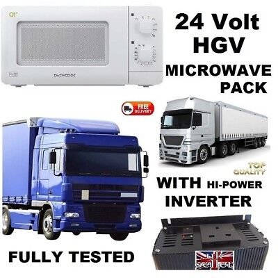 24 VOLT MICROWAVE FOR HGV LORRY 24v EASY FIT FOR TRUCK SCANIA - Long Haul Eating