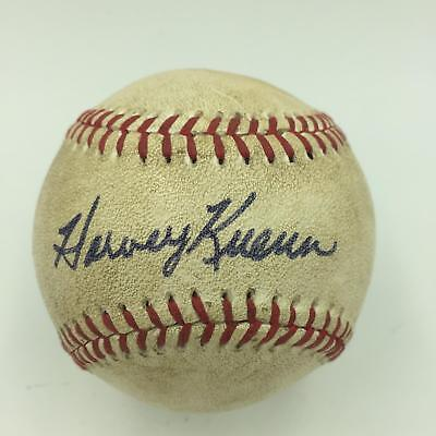 Rare 1977 Harvey Kuenn Single Signed Game Used American League Baseball JSA COA