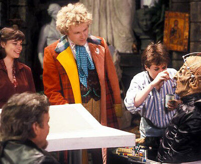 Colin Baker, William Gaunt & Nicola Bryant UNSIGNED photo - H8063 - Doctor Who