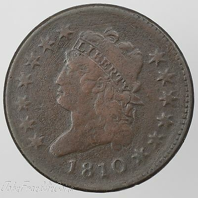 1810 1c Classic Head Large Cent VF (Light Corrosion) /T-237