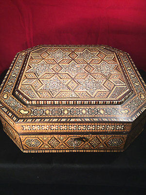 Fine Large Indian Vizagapatam Inlaid Hardwood Box c.1900, Superb Item