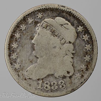 1833 H10c Capped Bust Half Dime Good /T-297