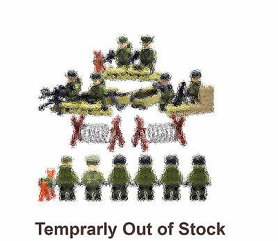 WWII American Soldiers - Lego Compatible - Army Minifigures - Military Minifigs