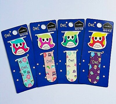 1 x Cute Owl Magnetic Bookmark - Planner/Diary/School/Reading