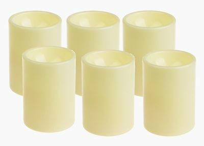 DFL 3*4 Inch Amazing Flameless Plastic Pillar Led Candle With TimerIvorypack ...
