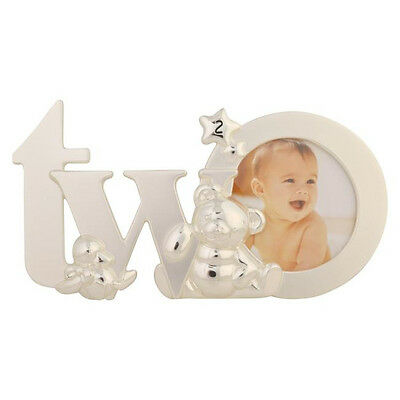 Silver Baby Girl Boy ~ My 2nd Second Birthday ~ Teddy Duck Photo Picture Frame