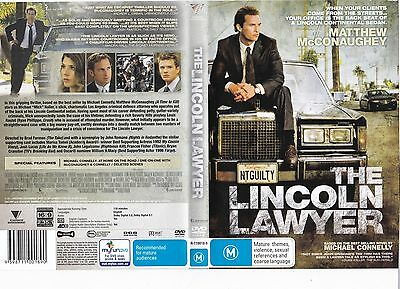 DVD ARTWORK ONLY - The Lincoln Lawyer 2011 Great Condition FREE POSTAGE