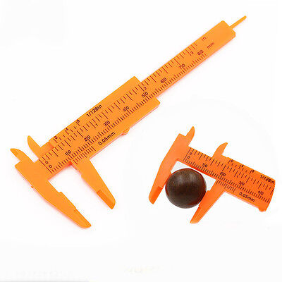 1Pc 80mm Mini Plastic Sliding Vernier Caliper Gauge Measure Tool School Supplies