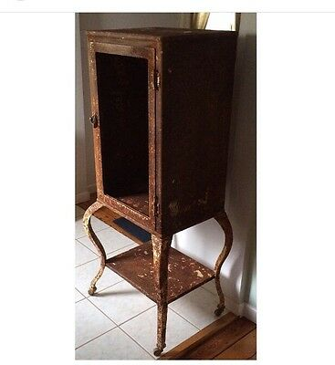Antique Industrial Medical Apothecary Dental Cabinet Doctor Medicine
