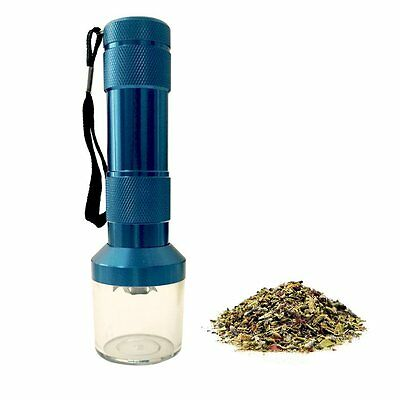 New Blue Electronic Crusher Cracker Zinc Alloy Tobacco Spice Herb Tea Grinder