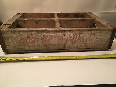 Old Vintage 7up Fresh Up with 7 Up Soda Advertising Wood Wooden Box Crate