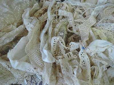 Vintage Lace LOT 70 pieces Antique Victorian Edwardian 1920s remnants scraps