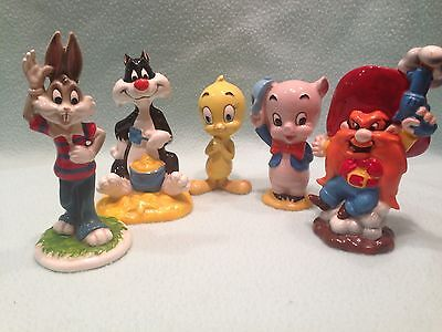Vintage 1970's Looney Tunes Figurines  Bugs Bunny, Sylvester, Tweety, Porky, Sam