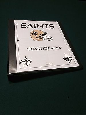 Drew Brees Game Used Quarterback Notes, Playcard, Script, Program - PLAYOFF GAME