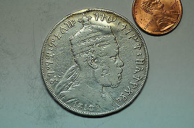 mw8487 Ethiopia; Silver Crown - Birr  EE1887 KM#5  Ex jewelry - mount removed