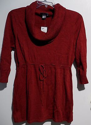 Oh Baby by MOTHERHOOD Pepper Red Tie Front Knit Sweater Maternity Top L $56