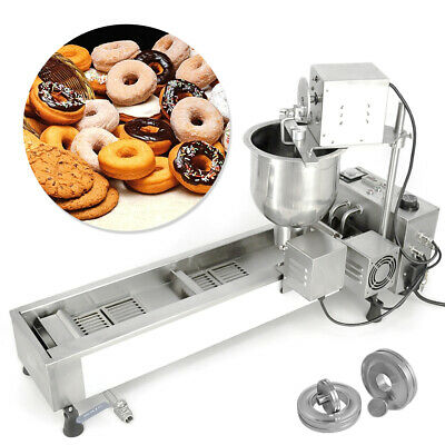 3 Sets Mold 220V  Commercial Automatic Donut Maker Making Machine Wide Oil Tank