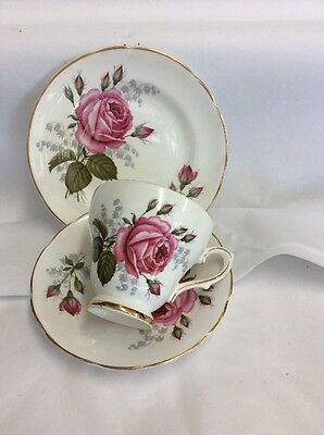Beautiful Pink Roses Trio By Sutherland China Staffordshire