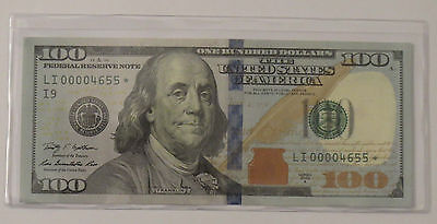 2009A $100 One Hundred Dollar STAR NOTE United States VERY LOW SERIAL NUMBER