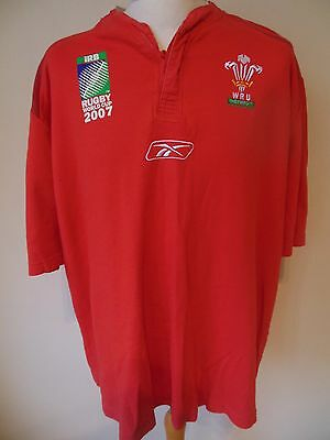 Wales 2007 World Cup Rugby Shirt - 2Xl Xxl
