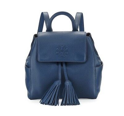 7133aa94ac6 NWT TORY BURCH Thea Mini Backpack In Navy Blue Color Leather ...